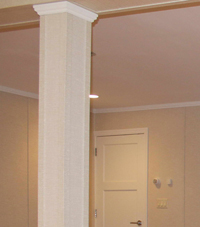 Easy Wrap column sleeves in Liverpool basement