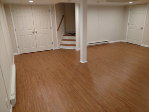 Basement Flooring After in Binghamton