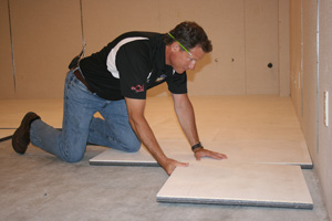 Installing ThermalDry® insulated floor decking in Syracuse