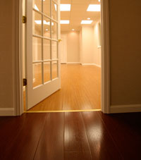 Basement Wood Flooring installed in Liverpool, New York