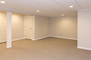 A complete finished basement system in a Auburn home
