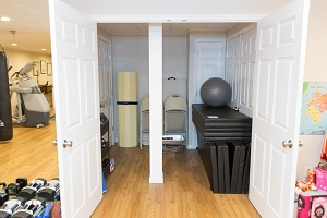 TBF finished basement with home gym in Syracuse