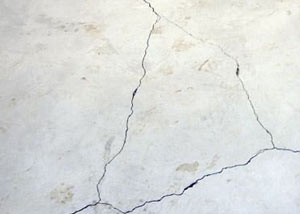 cracks in a slab floor consistent with slab heave in Canandaigua.