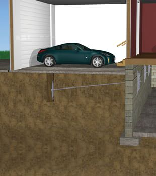 Graphic depiction of a street creep repair in a Malone home