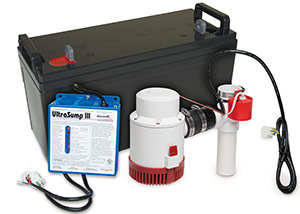 a battery backup sump pump system in Plattsburgh