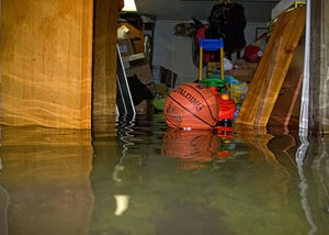 Flooded basement in Syracuse