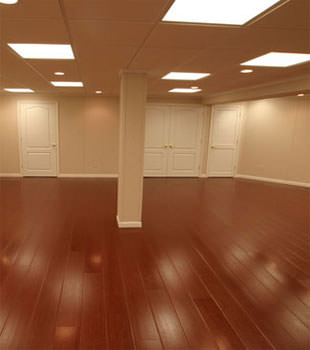 Rosewood faux wood basement flooring for finished basements in Syracuse